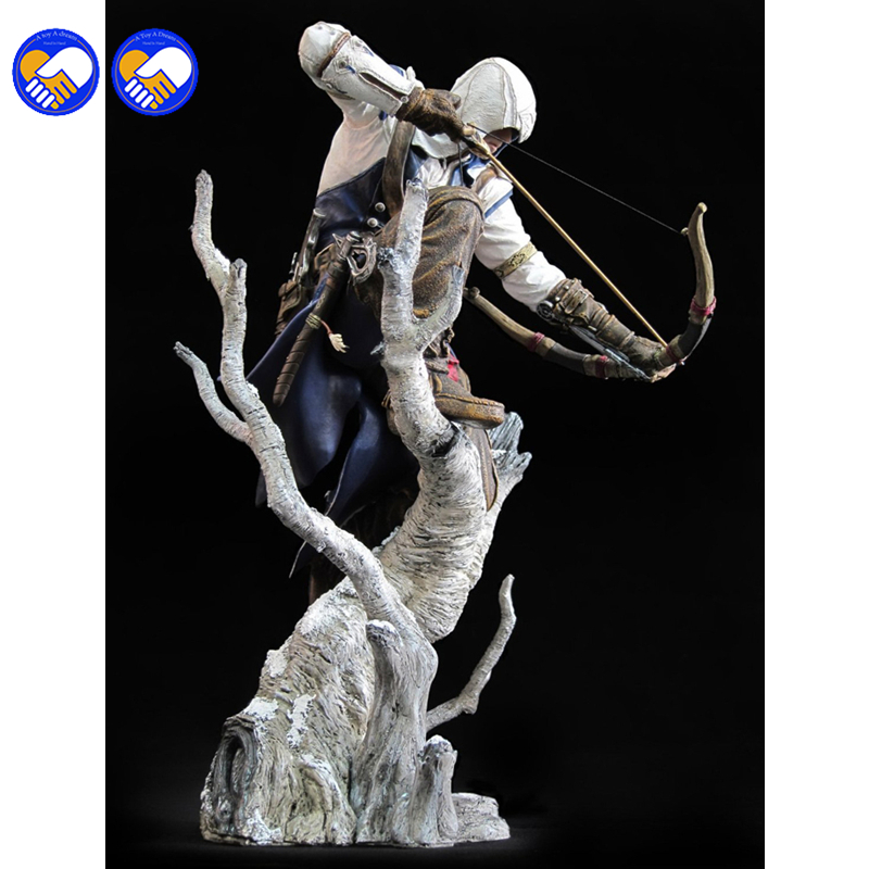 A toy A dream New Connor The Hunter Figurine Classic Game Assassins Assassins Creed 3 III 10 Action Figure<br>