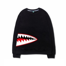 Japanese Harajuku edition menschool plus cashmere sets of round neck  men head tide FIsh hoodies