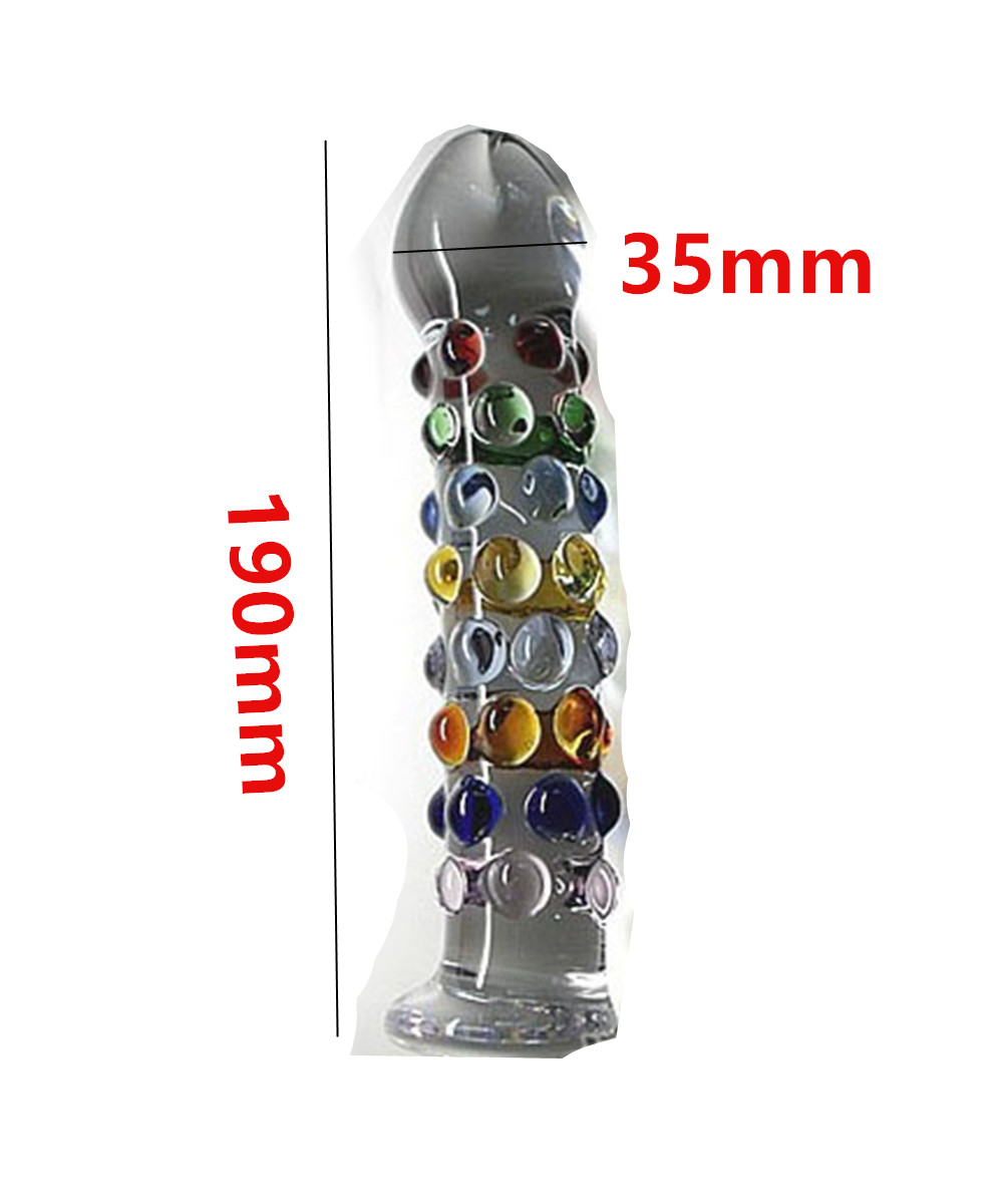 19*3.5 cm Big Glass Penis Dildos Cock Anal Pleasure Beads Butt Plug Anus Expand Tool Erotic Sex Toys For Women And Men Gay<br>