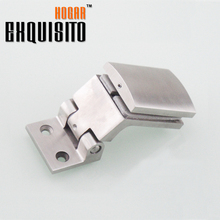 Solid 304 Stainless Steel Glass Door Bathroom Clip Shower Room Partition Free Hinge Glass Clip Glass Hinge