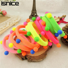 isnice Hot Sale New 2018 Hair Accessories Pearl Rubber bands Headwear For Women Elastic Hair bands(China)