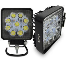 2pcs motorcycle led 27w Flood /Spot 4 inch 27w work light 12 volt led work lights for 4X4 ,tractor   ,offroad car