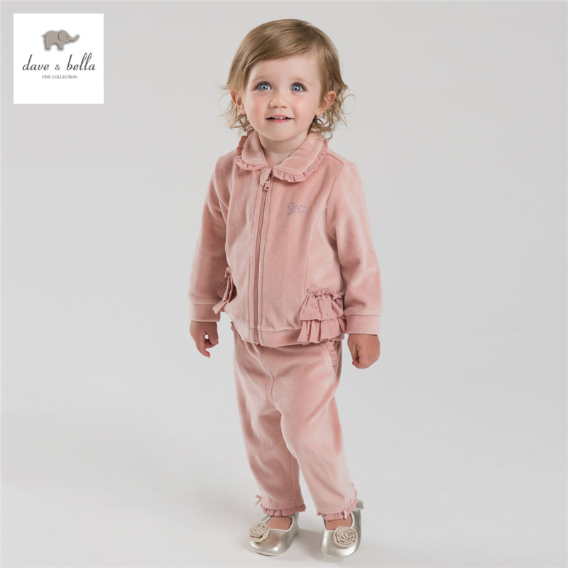 DB4022 dave bella autumn baby girls pink clothing set  baby sports pink sets <br><br>Aliexpress