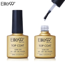Elite99 10ml Long-lasting Gel Lacquer Builder Gel For DIY Manicure Nail Art Soak-off Top Coat Professional Top It OFF For(China)