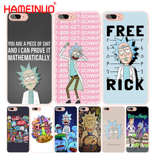 HAMEINUO rick and morty cell phone Cover case for iphone 4 4s 5 5s SE 5c 6 6s 7 8 X plus(China)