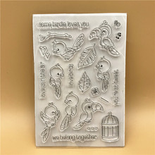 Bird Transparent Clear Silicone Stamp/Seal for DIY scrapbooking/photo album Decorative clear stamp sheets A568(China)