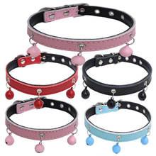 5 Color Genuine Leather Pet products Spiked  Dog Collar Round Bullet Nail Rivet Studded Collar Neck Strap Collar