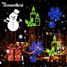 Lemonbest Laser Projector Lamps LED Stage Light EU/US Plug Christmas Party Landscape Light Garden Decoration Lamp with 4 Gobo