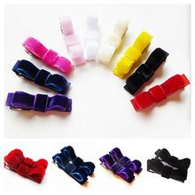Free Shipping 800pcs Set of small red velvet hair clips - red velvet hair bows Mix Colors