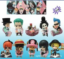 10pcs/set  Zoro Brook Nami Robin Luffy Sanji One Piece Anime Collectible Action Figures PVC Collection toys for christmas gift