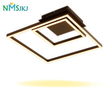 Square Rings Modern LED Ceiling Lights Lamp for Living Room Aluminum Acrylic Body Kitchen Bedroom Foyer Ceiling Lamp