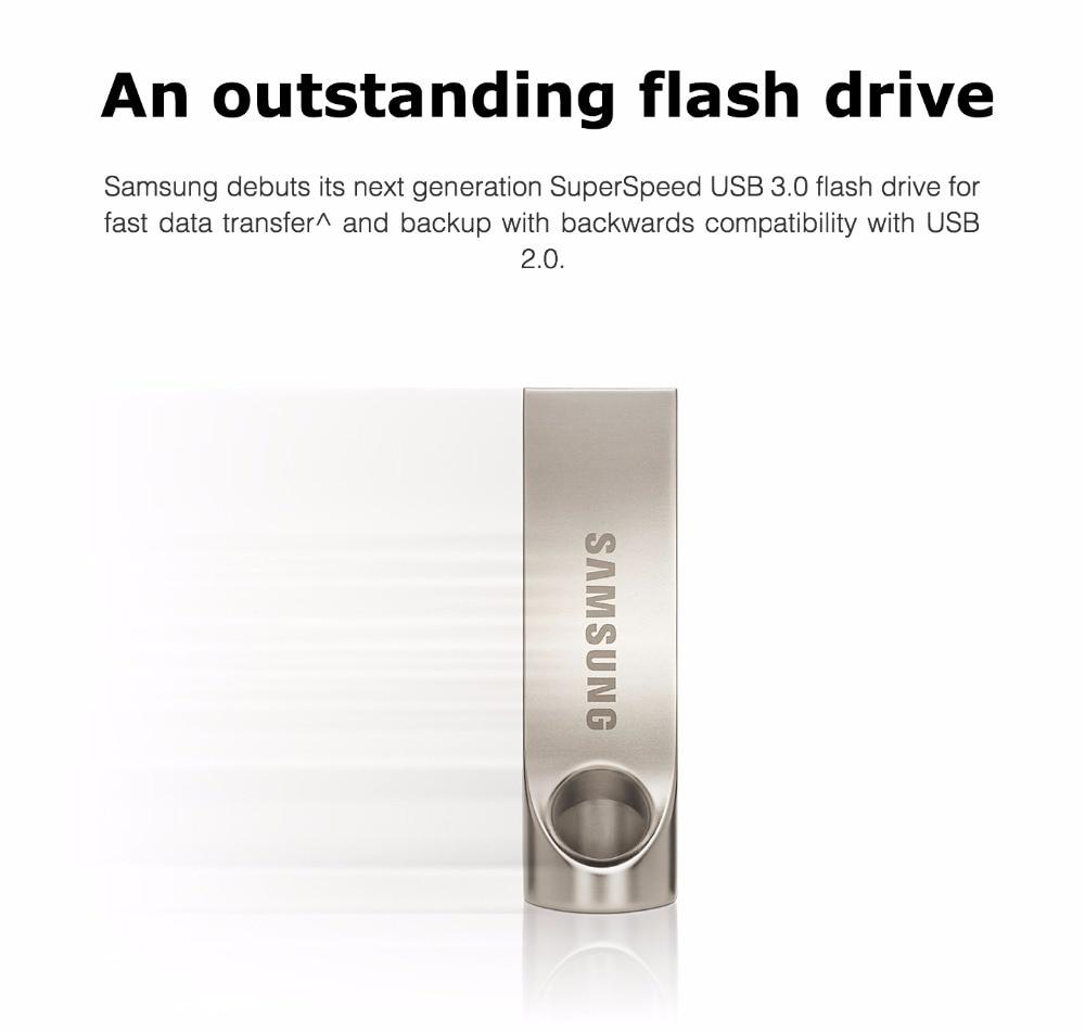 100% Original SAMSUNG U Disk 3.0 USB Flash Drive 32gb 64gb 128gb Storage Device USB Metal Pen Drive Tiny Pendrive Memory Stick