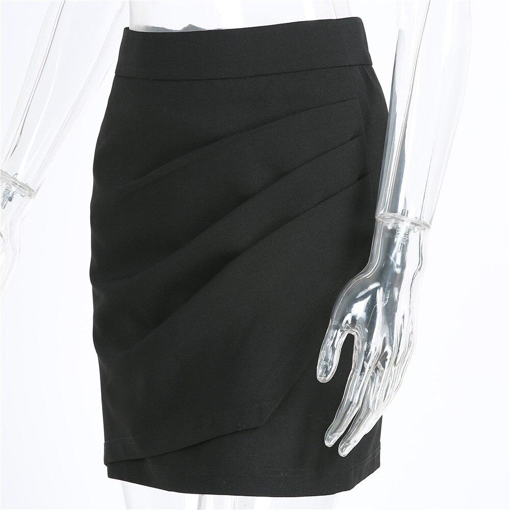 XS-5XL Plus Size Black Pencil Skirt Summer 2018 Bodycon High Waist Skirts Work Office Slim Women's Tight Sexy Mini Skirt Zevrez 12