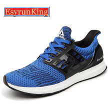 EsyrunKing  Men's Sport Running Shoes Music Rhythm Men's Sneakers Breathable Mesh Outdoor Athletic Shoe Light Male Shoe