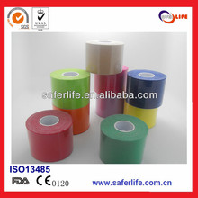 wholesale 60 pcs/lot 5cm x 5m  athletic kinesio colored printed  blue orange therapy muscle tape elastic music tape