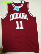 SexeMara Cheap Basketball Jerseys 11# Isiah Thomas Indiana Hoosiers College Stitched Vintage Throwback Burgundy Red Jersey