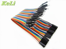 new 40pcs in Row Dupont Cable 20cm 2.54mm 1pin 1p-1p Female to Male jumper wire
