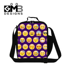 Dispalang Design Kids Cooler Lunch Bag Emoji Portable Insulated Lunch Box Mini Thermal Food Picnic Bag For Women Men Lunch Tote(China)