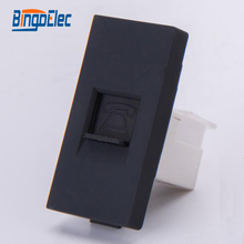 1/2 socket for telephone ,black color ,no frame,CE certification,Hot sale(China)