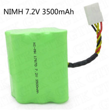 7.2V 3500mAh NIMH battery pack 7.2v nimh battery for XV-21 XV-11 XV-12 XV series Robotics 945-0005 Robotics 945-0006 cleaner vac