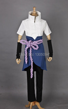 Anime Naruto Sasuke Cosplay Costume Adults Halloween Party Show High Quality Cosplay Costumes Any size(China)