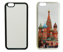 For iPhone 4s 5S SE 6 6S 7 plus 2d Rubber TPU sublimation print case cover with blank white aluminium plate insert 5 piece /lot(China)