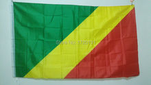 world flying natioal flag hundred percent polyester printed Congo flags and banners 3*5ft decoration outlast banner