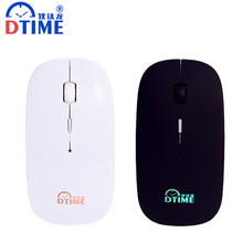 DTIME Rechargeable Wireless Mouse Silent Mute Button Computer Gaming Mice 2400DPI Built-in Battery with LED Lights For PC Laptop(China)