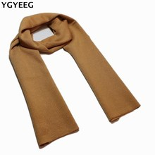 YGYEEG Fashion Design Casual Scarves Winter Men's Knitting Scarf Luxury Brand High Quality Warm Neckercheif Modal Scarves Men(China)