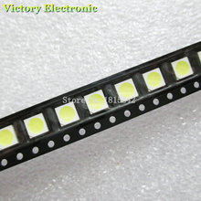 100PCS/LOT White Light 5050 SMD LED Diode Super Bright 5050 LED New