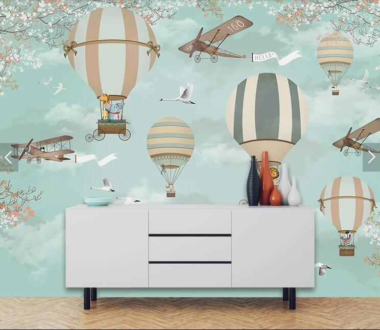 HTB19.BVu1GSBuNjSspbq6AiipXaP - Bacaz Airplane Fire Balloon 3d Cartoon Wallpaper Murals for Kids Room