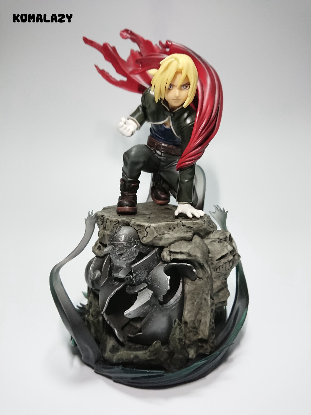 Fullmetal Alchemist Figure Edward Elric Figure Roy Mustang FA Flame Alchemist Figure 220MM PVC Kids Toys Model Doll Toy Gift<br>