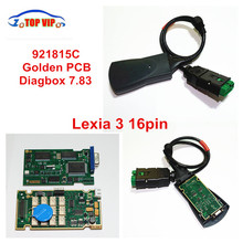 2017 Hot Selling High Quality Lexia3 Lexia 3 PP2000 Diagnostic Tool 92185C Gold PCB Board V48 Lexia3 V25  with diagbox v7.83