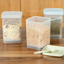 3Pcs/lot Plastic Food Storage Box Sealed Crisper Grains Tank Storage Kitchen Sorting Food Storage Box Container Incidental spoon(China)