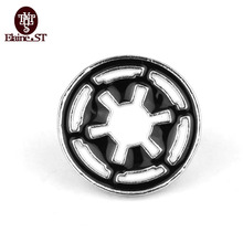 Movie Jewelry Star Wars Silver Plated Enamel Galactic Empire Logo Brooches Pins Cheap Wholesale Vintage Women Men Brooch Pins(China)