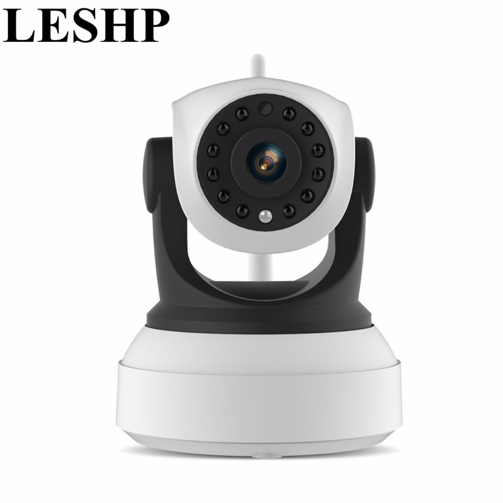 LESHP Wifi IP Camera 720P HD Wireless Camera Video Surveillance Network Camera Infrared IR Night Vision Built-in Speaker And Mic<br>