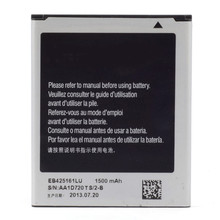 Mobile Phone Replacement Batteries 1500mAh EB425161LU Battery For Samsung Galaxy S3 Mini i8190 Galaxy Ace 2 i8160