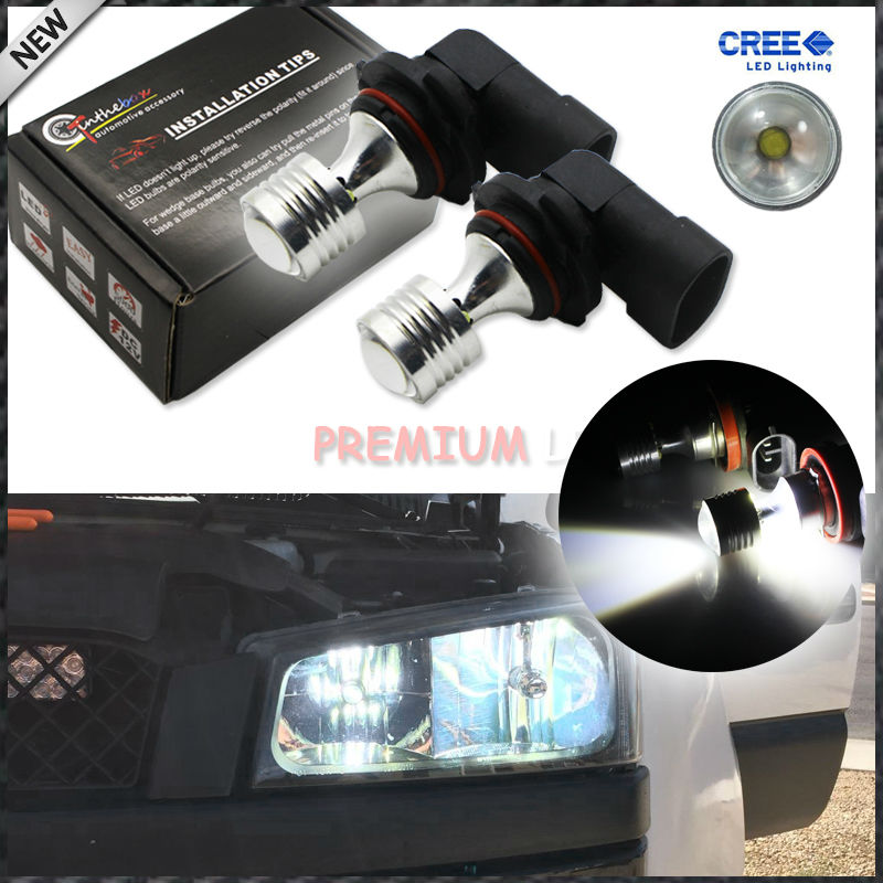 , 2 6000K Xenon White 20W High Power CRE'E 9005 HB3 9011 LED Replacement Bulbs Fog Lights Driving Lamps, Driving Lights