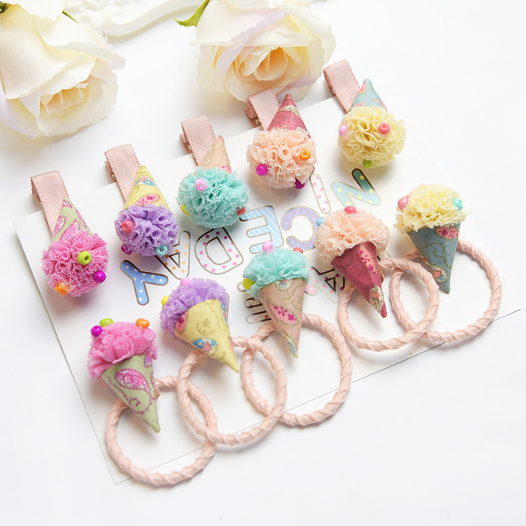 Girl's Hair Accessories Humble 1pcs Lovely Flower Gray Ball Elastic Hair Bands Toys For Girls Handmade Bow Headband Scrunchy Kids Hair Accessories For Womens High Quality And Inexpensive