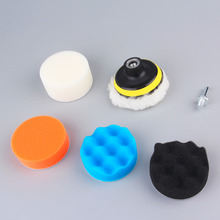 Hot Worldwide 7pcs/set 3 inch Buffing Pad Auto Car Polishing sponge Wheel Kit With M10 Drill Adapter Buffer Dropping Shipping