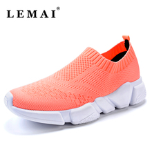 LEMAI Summer Athletic Sneakers For Women Breathable Mesh Sport Shoes Women Outdoor Super Light Running Shoes(China)