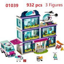 Lepin 01039 Friends Girl Series 932pcs Building Blocks toys Heartlake Hospital kids Bricks toy girl gifts Compatible Legoe 41318(China)