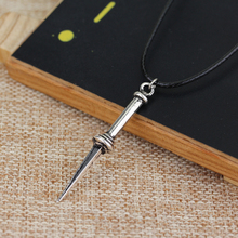 Supernatural jewelry Angel Sword Necklaces & Pendants Maxi Rope Chain Necklace Summer jewelry Cheap Price Freeshipping(China)