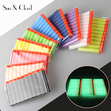 100 pcs/lot 7.2cm Fluorescence Refills Darts Universal Standard Round Head With Hole Hollow Foam Bullets For Nerf Gun(China)