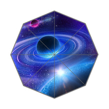 Space Planet Stars Universe Customized Portable Folding Travel Personalized Rain and Sun Men Umbrellas Unique Parasol Umbrella