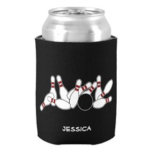 Personalized Bowling Ball Pins Strike Can Cooler Custom Name Beverage Insulator Holders Baby Shower Wedding Beer Can Coolers