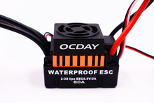 2017 New Ocday Waterproof 60A Brushless ESC Electric Speed Controller with 5.5V/3A BEC for 1/10 RC Car Free shipping(China)