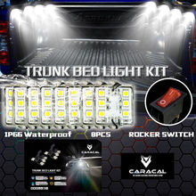 CARACAL 8PC Pickup/Truck Bed/Work Box Waterproff White 48-LED Lighting Accessories Kit(China)