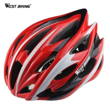WEST BIKING Cycling Helmet 24 Air Vents Road/Racing Mountain BMX Bike Adult Starlet Wave Bicycle Foray PVC Cycle Helmets 56-61cm
