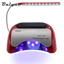 Anself 48W LED + CCFL Nail Dryer Built-in fan Gel Curing Machine Nail Art Tool Infrared Auto-induction Time Setting 30s 60s